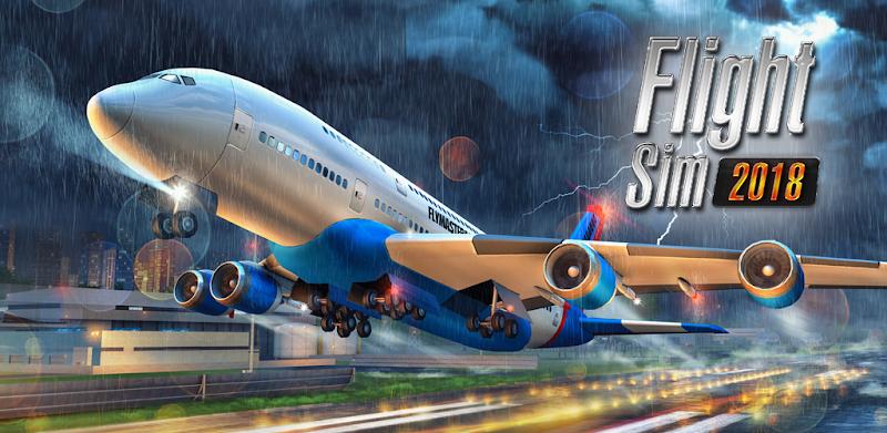 Flight Sim 2018 – APK MOD HACK – Dinheiro Infinito