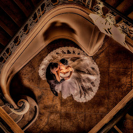 A new Begining by Larry Taylor - Wedding Bride & Groom ( #larrytaylorphotography #weddingphotography #pasadenacityhallstaircase )