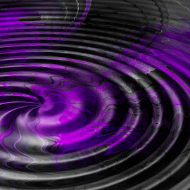 Silky Swirl by Kris Pate - Illustration Abstract & Patterns