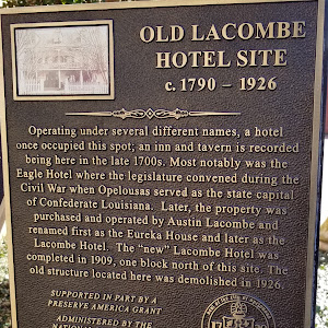 Operating under several different names, a hotel once occupied this spot; an inn and tavern is recorded being here in the late 1700s. Most notably was the Eagle Hotel where the legislature convened ...