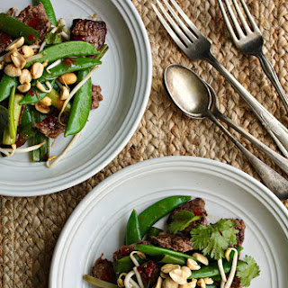 Beef and Snap Peas Stir-fry with Thai Hot Pepper