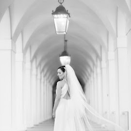 Waiting... by Armen Melik-Abramians - Wedding Bride ( black and white, wedding, bride, portrait )