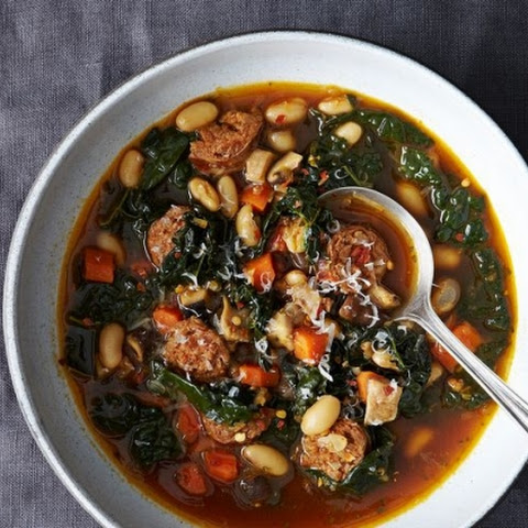 Kale & Bean Soup with Ham