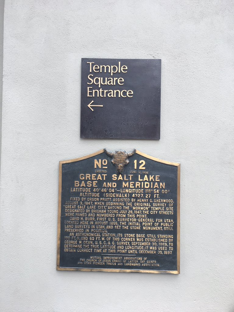 No 12 ERECTED JUNE 12, 1932 GREAT SALT LAKE BASE AND MERIDIAN LATITUDE 40°46'04