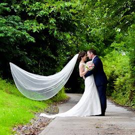 Wedding Photography Springfield Castle by Kaspars Sarovarcenko - Wedding Bride & Groom ( wedding photography ireland, wedding photographer limerick, wedding photography springfield castle )