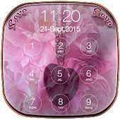 Pink Love Keypad LockScreen APK for Bluestacks