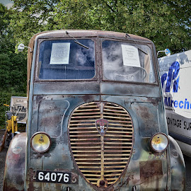 For Sale by Marco Bertamé - Transportation Other ( 1947, vintage, dma, number, french, delivery van, peugeot, number plate, 0, 7, 6, 4, anno, oldtimer, rust )