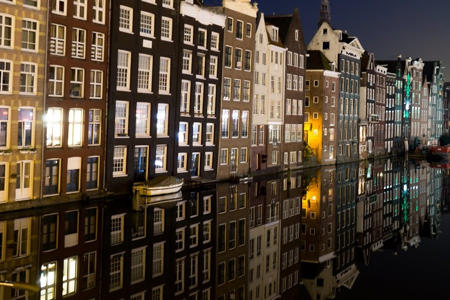 Reflections of Amsterdam  by VAM Photography - Buildings & Architecture Other Exteriors ( reflection, exterior, amsterdam, architecture, travel, canal )