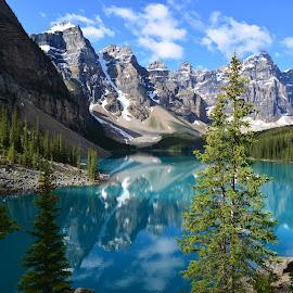 Banff National Park by Dave Parmelee - Landscapes Mountains & Hills ( mountains, nature, lakes, places, landscape,  )