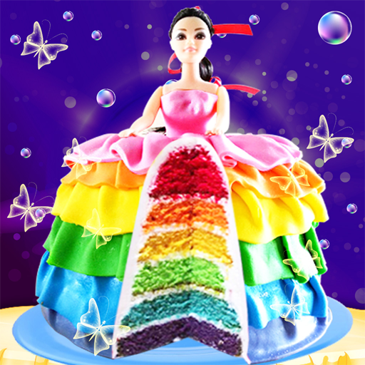 Rainbow Doll Cake bakery Game - DIY Cooking Kids (game)