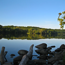 Mohawk River by William Hayes - Novices Only Landscapes ( peaceful, new york, mohawk, relaxing, river )