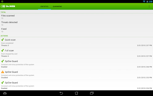 Anti-virus Dr.Web Light APK Descargar
