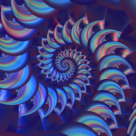 Spiral 13 by Cassy 67 - Illustration Abstract & Patterns ( swirl, digital art, harmony, spiral, vitality, fractal, digital, fractals, energy )