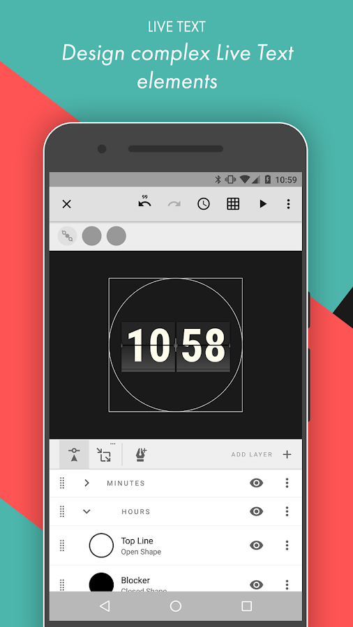 Pujie Black Android Wear Watch Face Designer Screenshot 16