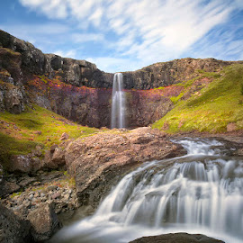 Silky Flow  by Þorsteinn H. Ingibergsson - Landscapes Waterscapes ( iceland, nature, waterfall, structor, landscape, rocks )