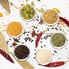 Indian Spices & Herbs by Kunal Kumar Maurya - Food & Drink Ingredients ( coriander, mustard, sesame, cardamom, fenugreek )