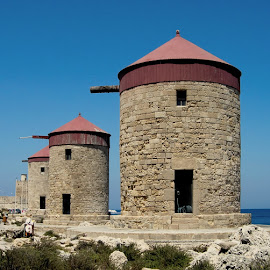 Mills of Rhodos by Tomasz Budziak - Buildings & Architecture Public & Historical ( mill, greece, architecture )