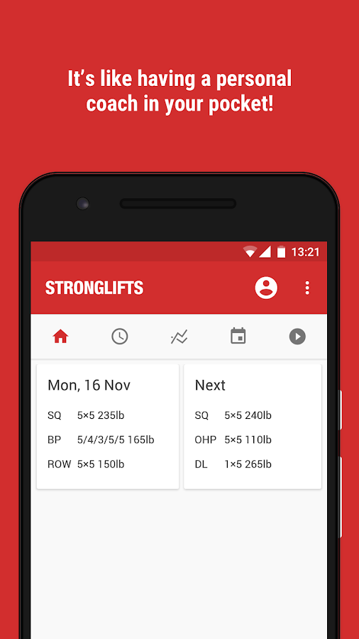 StrongLifts 5x5 Gym Workout Log & Personal Trainer Screenshot 4