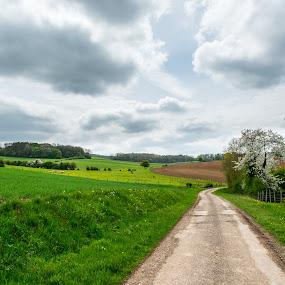 Bousseraucourt landscape1 by Henk Verheyen - Landscapes Cloud Formations ( clouds, france, landscape, spring, bousseraucourt )