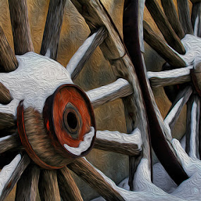 Snowy Spokes by Hylas Kessler - Digital Art Things