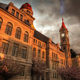 Ominous Skies by Brian Pex - Buildings & Architecture Public & Historical ( building, sunset, drama, golden hour )