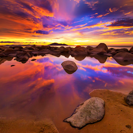 Reflection sunset by Dany Fachry - Landscapes Beaches