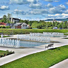 Zagi park by Jelena Puškarić - City,  Street & Park  Fountains ( park, fonutains, street, sity )