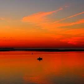 New York Sight and Soud by Kevin Hill - Landscapes Sunsets & Sunrises ( connecticut, sound, long island, fishing, new york, sunrise, fishing boat,  )