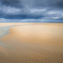 Infinite beach by Rebeka Legovic - Landscapes Beaches ( sand, sea, fuerte ventura, beach, landscape )
