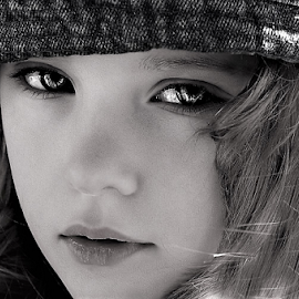Those Eyes B&W by Cheryl Korotky - Black & White Portraits & People