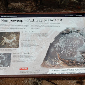 "Nampaweap Is a Pauite word that means ""Foot Canyon.""  As you walk the path, reflect on the many early travelers who have walked here before you. At the end of this half mile trail is an array of ..."