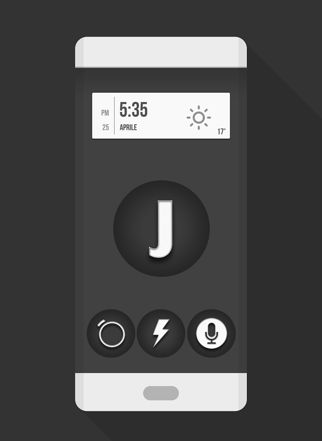 Jogi - Black White Round Icons Screenshot 0
