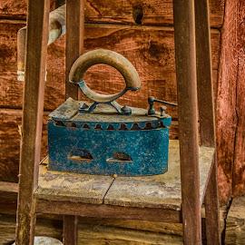 Grandma's Iron by Eseker RI - Artistic Objects Still Life