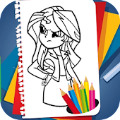 App Coloring Book for Equestria Girls APK for Windows Phone