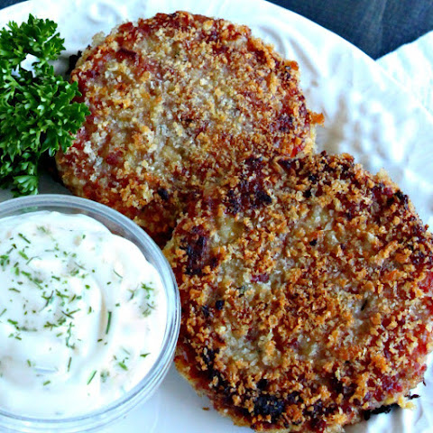 Ham Cakes with Garlic Dill Aioli