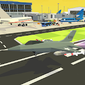 Game Fly Real Blocky Airplane Jet APK for Kindle