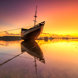 Ship Reflection by Dek Seplo - Transportation Boats (  )