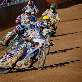 Only shadows goes orderly by Jiri Cetkovsky - Sports & Fitness Motorsports ( golden helmet, pardubie, speedway, race, shadows )