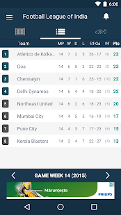 India Footbal League - screenshot