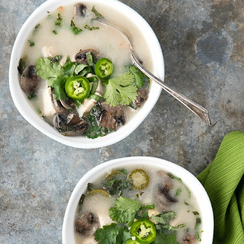 Slow Cooker Chicken Mushroom Coconut Soup