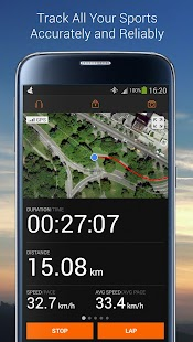 Sports Tracker Running Cycling Fitness app screenshot for Android