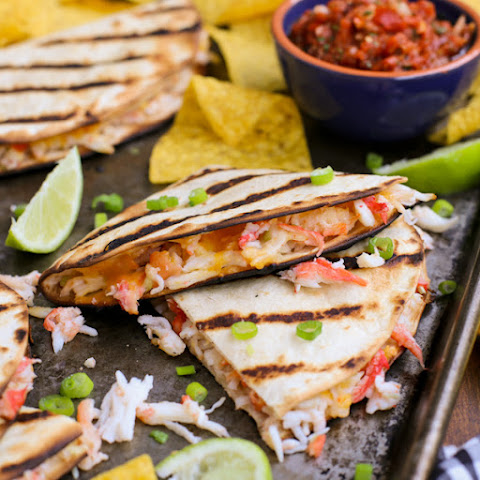 Cheesy Grilled Crab Quesadillas