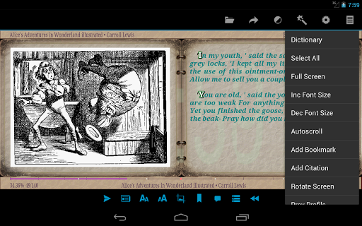 AlReader -any text book reader screenshot 22