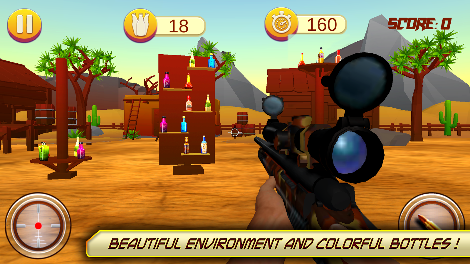Flasche Shooting Expert - Sniper Shooting Spiele android spiele download