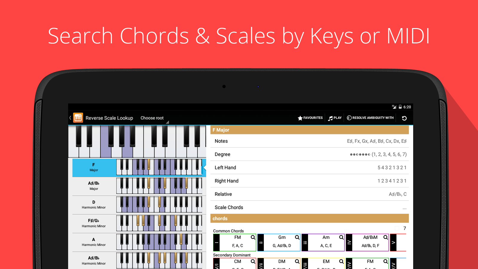 Piano Companion PRO: chord Screenshot 6