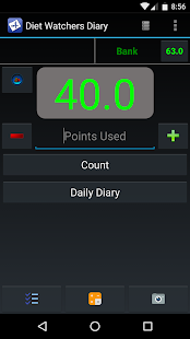 Diet Watchers Diary Fitness app screenshot for Android