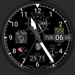 Aviator Watch Face for US Pilots, QNH For PC / Windows 7/8/10 / Mac – Free Download