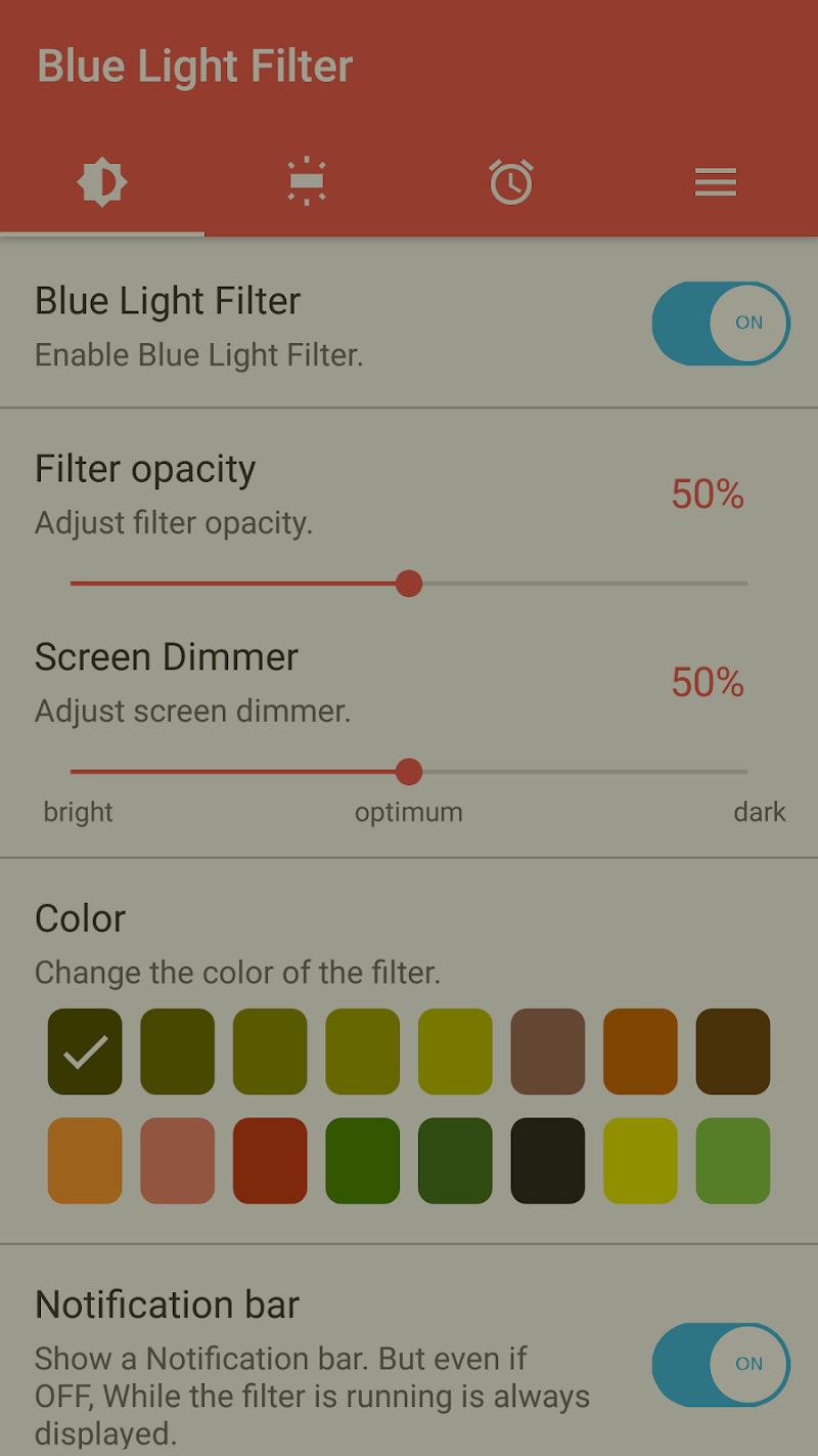 sFilter - Blue Light Filter Screenshot 1