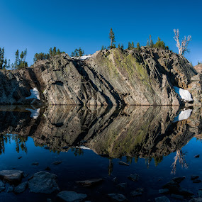 Mirror by Walter Hsiao - Landscapes Waterscapes ( mirror, reflection, california, lake, pond, ansel adams wilderness )