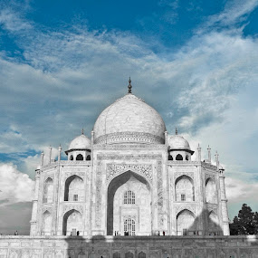 Beautiful Taj :) by Ashish Jain - Buildings & Architecture Statues & Monuments ( ashish, oddlens, asia, taj mahal, agra, jain, india, travel photography )